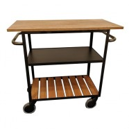 The Bronx - Industrial Style 3-tier Hospitality Trolley - 7508
